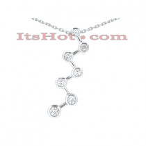 14K Gold 7 Stone Diamond Journey Necklace 0.75ct