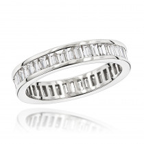 14K Gold Baguette Diamond Eternity Ring 2.72ct