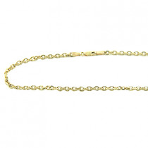 Mens 14K Gold Cable Chain, 20in-40in long, 3mm wide