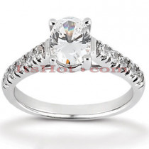14K Gold Designer Diamond Engagement Ring 0.43ct