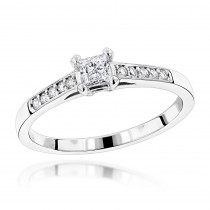14K Gold Designer Diamond Engagement Ring 0.45ct