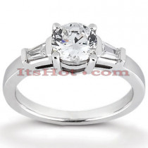 14K Gold Designer Diamond Engagement Ring 0.58ct