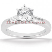 14K Gold Designer Handmade Diamond Engagement Ring 0.62ct