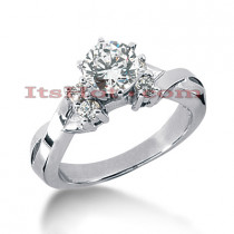 14K Gold Designer Diamond Engagement Ring 0.66ct