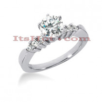 14K Gold Designer Diamond Engagement Ring 0.68ct