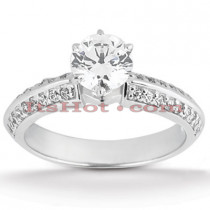 14K Gold Designer Prong Set Round Diamond Engagement Ring 0.70ct