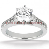 14K Gold Designer Diamond Engagement Ring 0.77ct