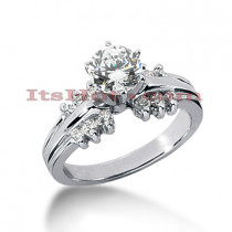 14K Gold Designer Round Diamond Engagement Ring 0.78ct