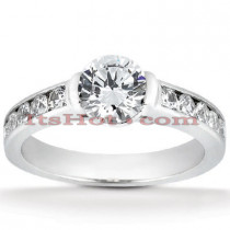 14K Gold Channel and Bezel Set Diamond Engagement Ring 0.80ct