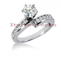 14K Gold Designer Round Diamond Engagement Ring 0.80ct