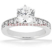 14K Gold Round Diamond Engagement Ring 0.80ct