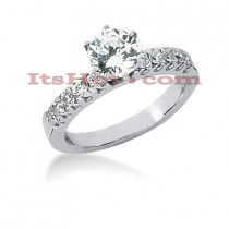 14K Gold Diamond Prong Set Engagement Ring 0.80ct