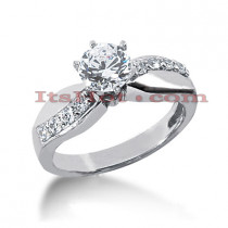 14K Gold Designer Diamond Engagement Ring 0.82ct