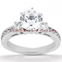14K Gold Designer Diamond Engagement Ring 0.84ct