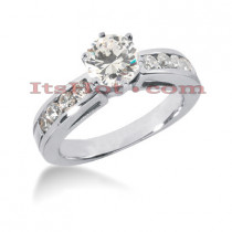 14K Gold Designer Diamond Engagement Ring 0.85ct