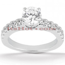 14K Gold Prong  Set Diamond Engagement Ring 0.86ct