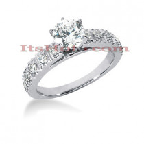 14K Gold Designer Diamond Engagement Ring 0.86ct