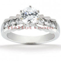 14K Gold Designer Diamond Engagement Ring 0.92ct