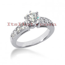 14K Gold Designer Diamond Engagement Ring 0.93ct