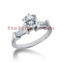 14K Gold Round Diamond Engagement Ring 0.94ct