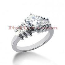 14K Gold Designer Diamond Engagement Ring 0.98ct