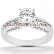 14K Gold Designer Diamond Engagement Ring 1.08ct