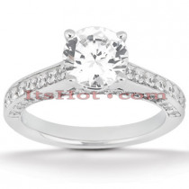 14K Gold Prong Set Diamond Engagement Ring 1.10ct