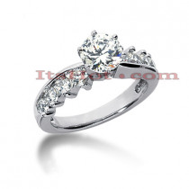 14K Gold Designer Diamond Engagement Ring 1.12ct