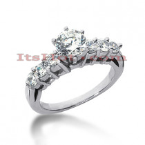14K Gold Designer Diamond Engagement Ring 1.18ct