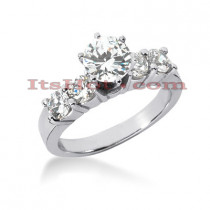 14K Gold Prong Set Diamond Engagement Ring 1.30ct