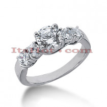 14K Gold Prong Set Diamond Engagement Ring 1.60ct