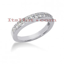 Thin 14K Gold Designer Diamond Engagement Ring Band 0.36ct