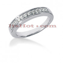 14K Gold Round Diamond Engagement Ring Band 0.36ct