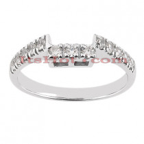 14K Gold Designer Prong Set Diamond Engagement Ring Band 0.39ct