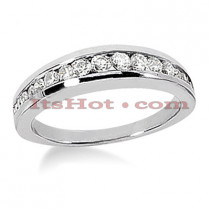 14K Gold Channel Set Diamond Engagement Ring Band 0.46ct