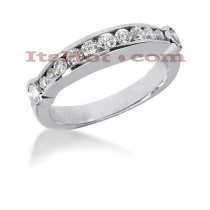 14K Gold Designer Bezel and Channel Set Diamond Engagement Ring Band 0.50ct