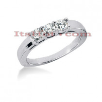 Thin 14K Gold Designer Diamond Engagement Ring Band 0.51ct
