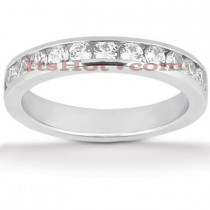 14K Gold Round Diamond Engagement Ring Band 0.55ct