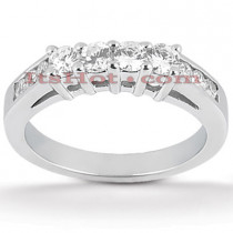 Thin 14K Gold Designer Diamond Engagement Ring Band 0.58ct