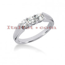14K Gold 3 Stone Diamond Engagement Ring Band 0.60ct