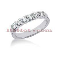 14K Gold Round Diamond Engagement Ring Band 0.60ct