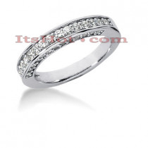 Thin 14K Gold Designer Diamond Engagement Ring Band 0.64ct