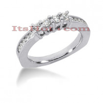 Thin 14K Gold Designer Diamond Engagement Ring Band 0.65ct