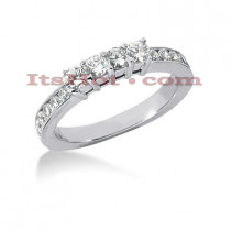 Thin 14K Gold Designer Diamond Engagement Ring Band 0.68ct