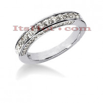 Thin 14K Gold Designer Diamond Engagement Ring Band 0.72ct