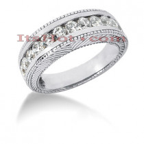 14K Gold Designer Diamond Engagement Ring Band 0.84ct