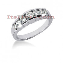 Thin 14K Gold Designer Diamond Engagement Ring Band 0.91ct