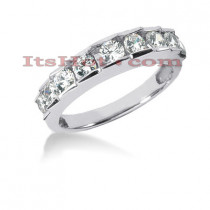 Thin 14K Gold Designer Diamond Engagement Ring Band 1.07ct
