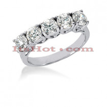 14K Gold 5 Stone Designer Diamond Engagement Ring Band 1.50ct