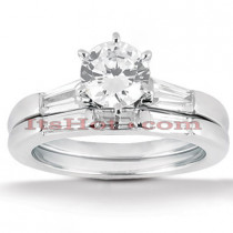 14K Gold Designer Diamond Engagement Ring Set 0.35ct